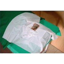 Ortholink Eye Drape Poly - Size 0.6 Mt x 0.6 Mt, Adhesive 8 Cm x 6 Cm With Drain Pouch